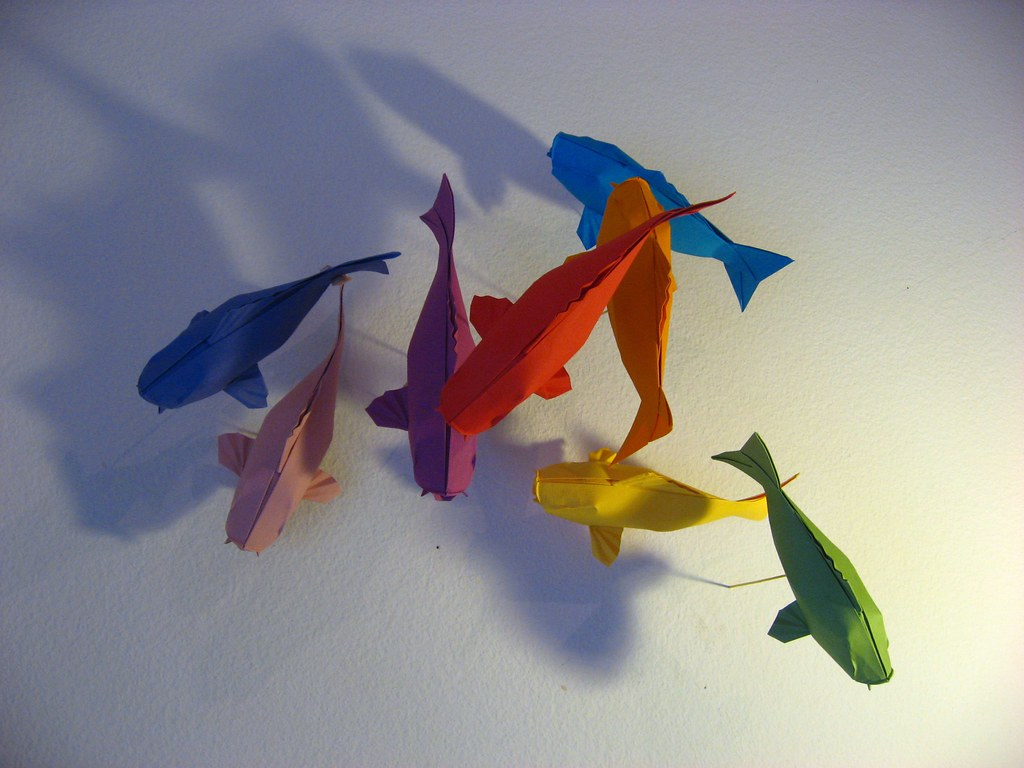 More fish just getting started here sipho mabona flickr for How to make origami koi fish