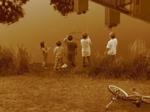 Kids Fishing Sepia | by Trostle