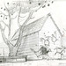 """From """"Banjo the Woodpile Cat"""", pencil drawing from Sequence 001, Scene 1."""
