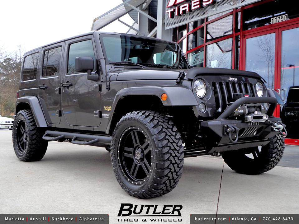 Jeep Wrangler Unlimited with 20in Black Rhino Mojave Wheel ...
