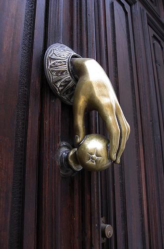 Gold Front Door Handle