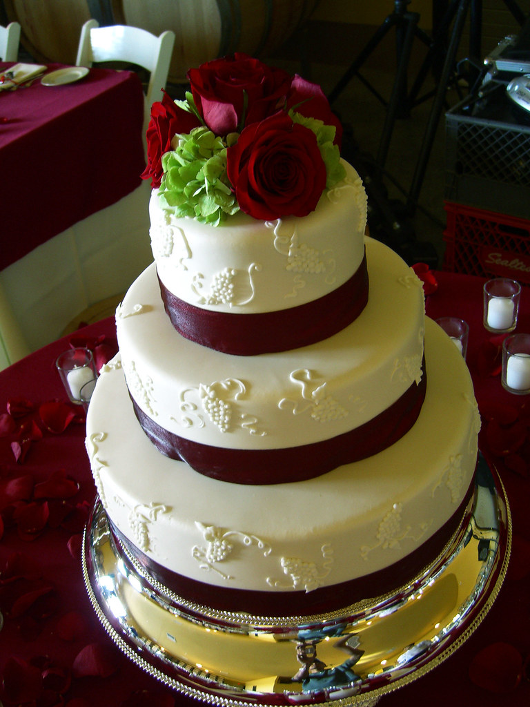 Wine Themed Wedding Cakes