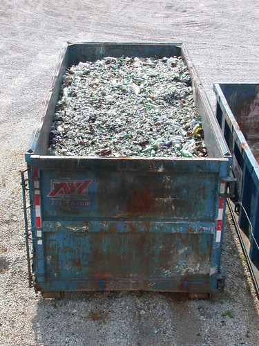 Glass recycling dumpster | by E. Bartholomew