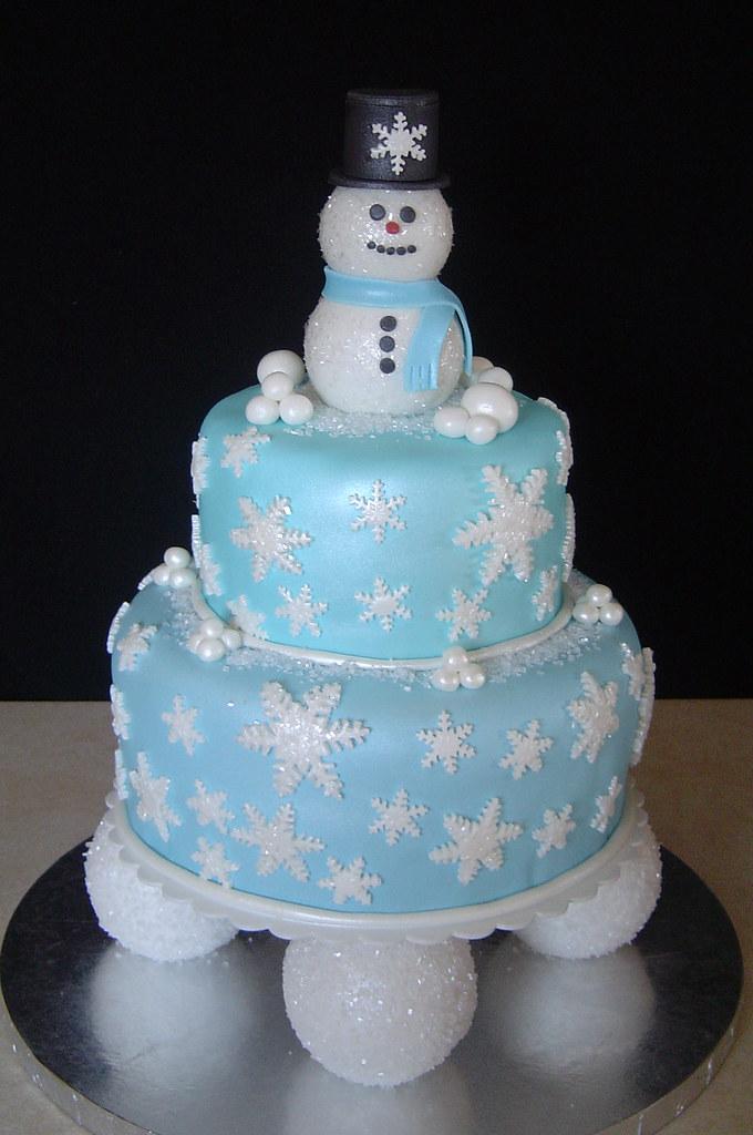 Winter Fun Birthday Cake Bottom Is 9 Quot Round Marble Cake