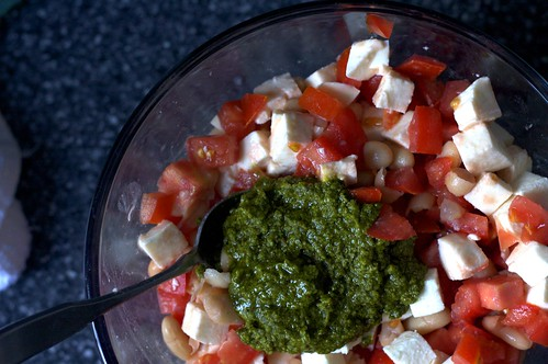 pesto-addled caprese | by smitten kitchen
