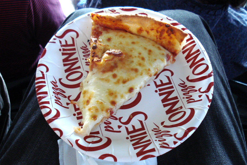 Connie's Pizza at Wrigley Field | Slice Cheese Pizza | The ...