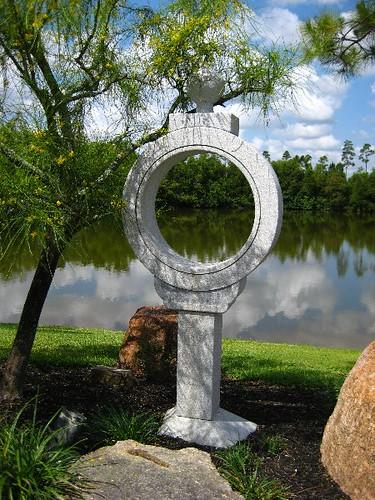 "Wisdom Ring Or ""Chie No Wa"" Stone Lantern"