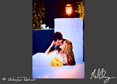 Relaxed kiss Portraits Palm Springs wedding photographer | by Neil Cowley