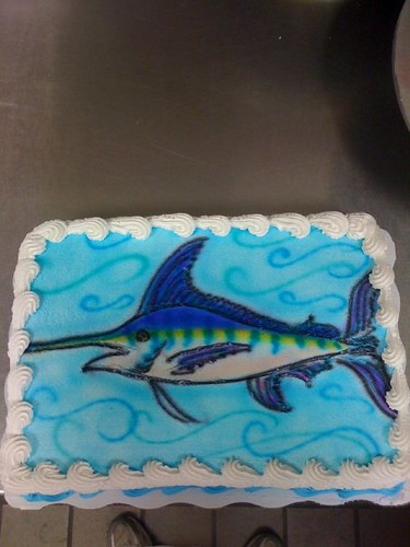 blue marlin cake Anna Flickr