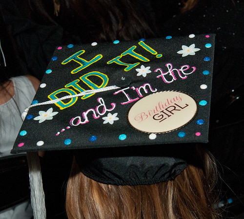FIDM 2011 Graduation - Decorated Mortar Boards - Staples Center, Los Angeles, California | by FIDM