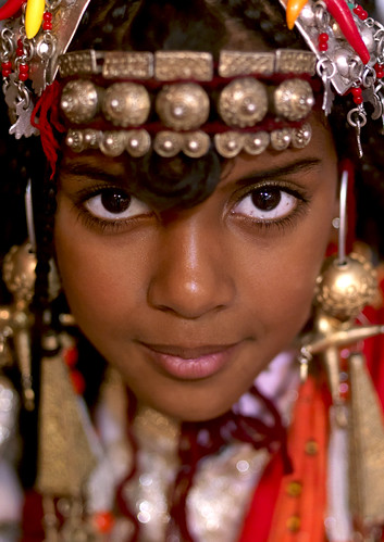 Tuareg girl with jewels, Ghadames, Libya | by Eric Lafforgue