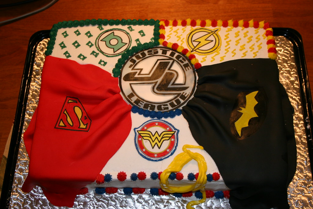 Justice League Birthday Cake
