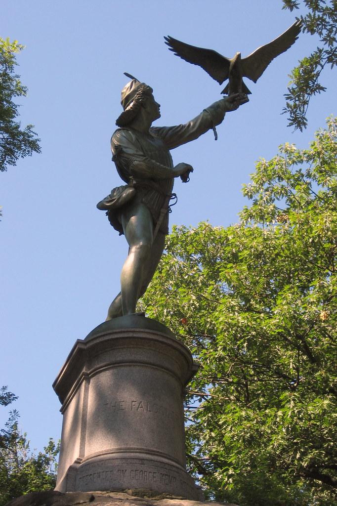 NYC - Central Park: The Falconer Statue | Originally ...