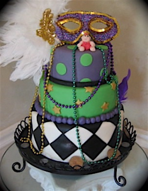 mardi gras baby cake mardigras baby shower cake was from louisana what 5706