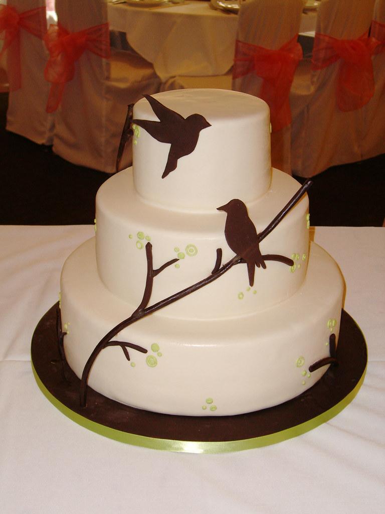 Bird Silhouette Wedding Cake | Wedding cake inspired by ...