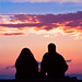 couple watching sunset in venice