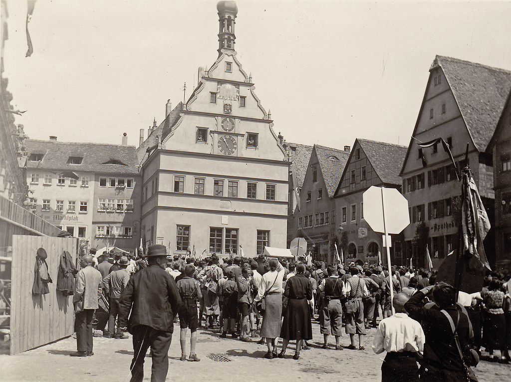 Rothenburg Germany 1930s Photo Found In A Flea Market