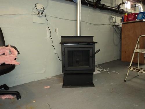 Pellet Stove Installed In Basement Fireplacevillage Flickr