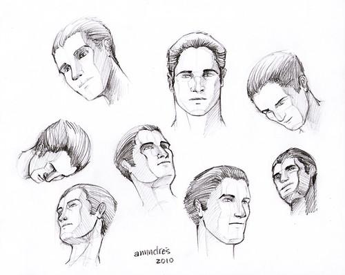 Rostro masculino dibujo - Imagui