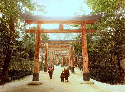 Kids under the torii gates another nice day somewhere for Japanese gates pictures