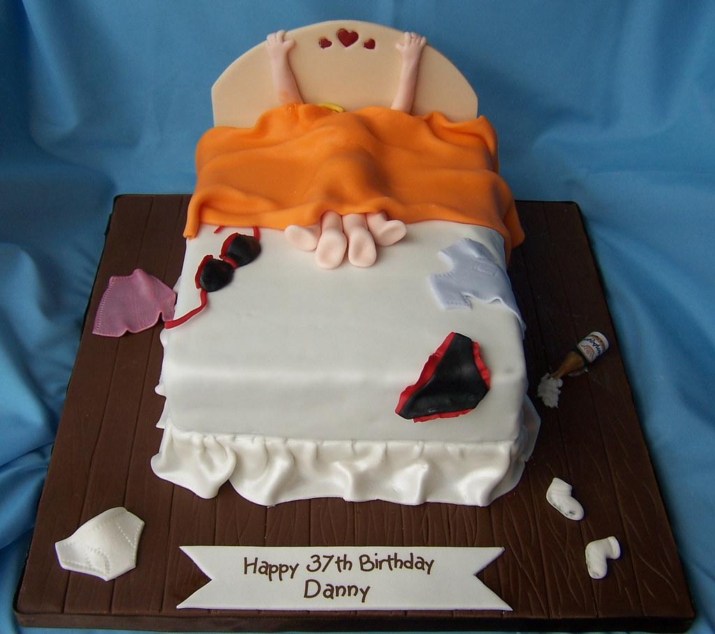 Dad On A Vanilla Birthday Cake