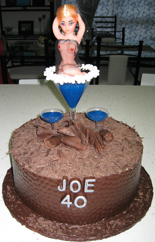 Joe S 40th Birthday Naughty Cake My Work Friend Turned