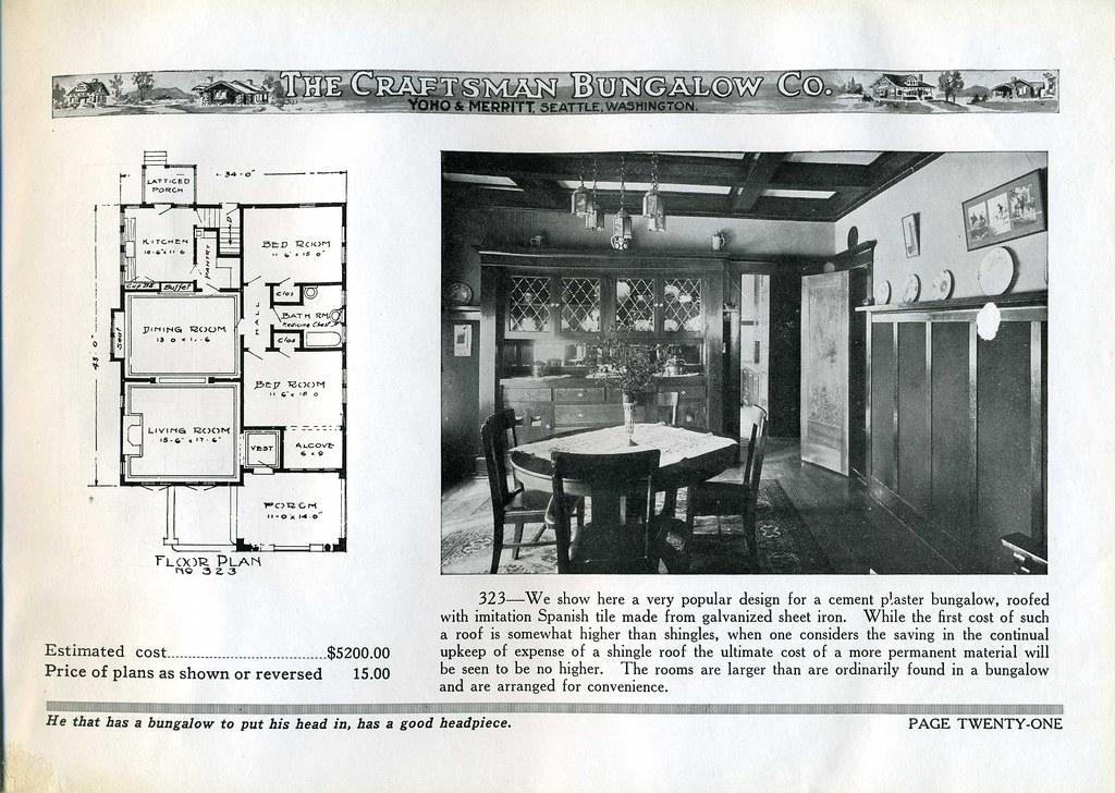 Jud Yoho Bungalow Interior 1920 Plan 323 Read About