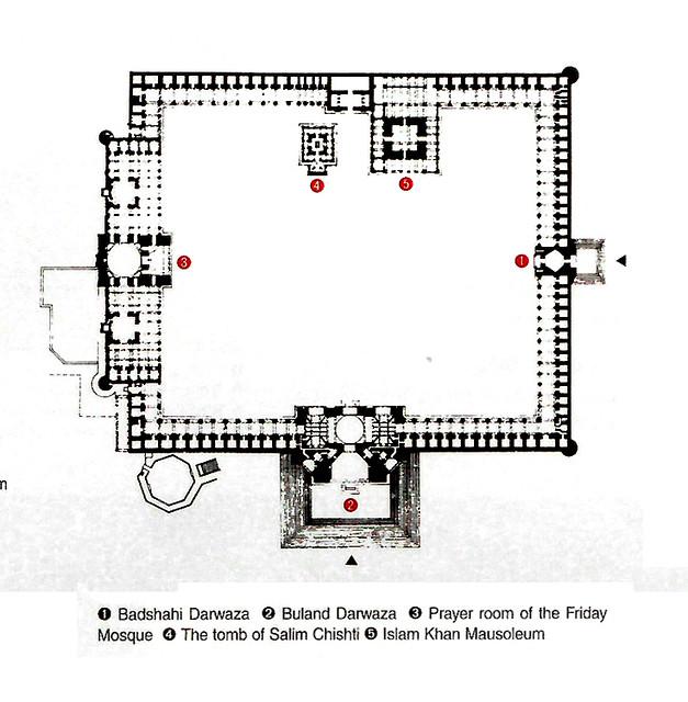 Fatehpur Sikri Jama Masjid Mezquita Planta Adri N