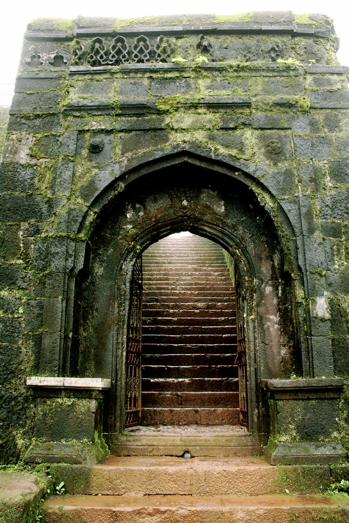 Fort Gate at the Raigad.   This is the East Gate at the ...