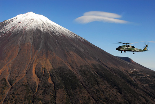 Helicopter flies by Mt. Fuji | by DVIDSHUB