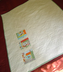 Gender Neutral Baby Quilt Back | by alissahcarlton