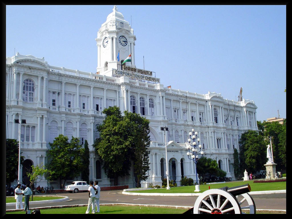 Chennai S Whitehouse The Rippon Building To The West Of