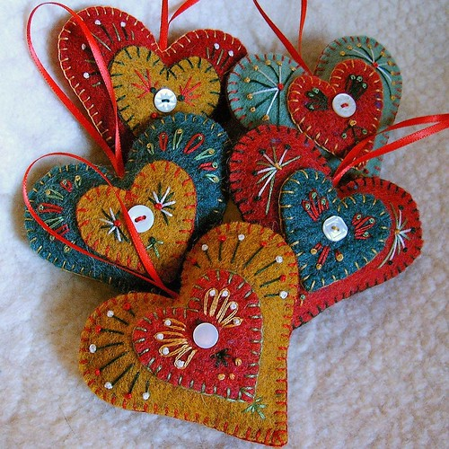 "Holiday ""Heart Felt"" Ornaments"