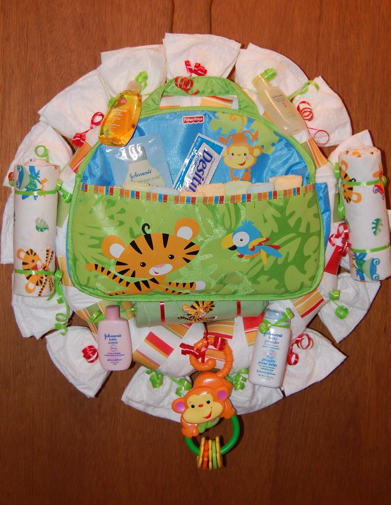 Rainforest Diaper Wreath Ingredients 15 Pampers