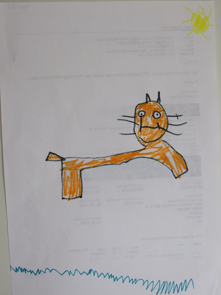 Orange Cat Drawing This Is An Excited Cat In The Sun My