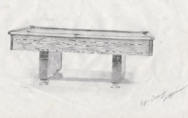 Pool Table Drawing Older Drawing Of A Pool Table Craig Stephens - Pool table identification