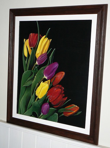 Pintura decorativa cuadro tulipanes tulips vistas for Pintura decorativa efeito 3d