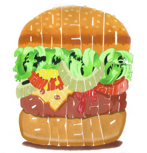 Hamburger Typographic Hamburger Typography Food Fun 63d238