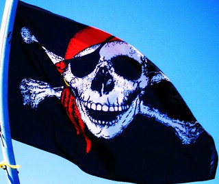 Skull and Crossbones Flag | by therapycatguardian