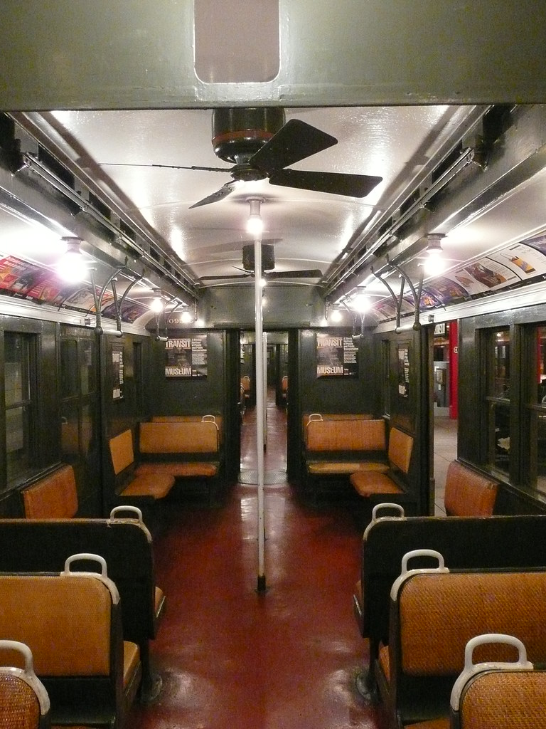 brooklyn ny transit museum subway car interior i think th flickr. Black Bedroom Furniture Sets. Home Design Ideas