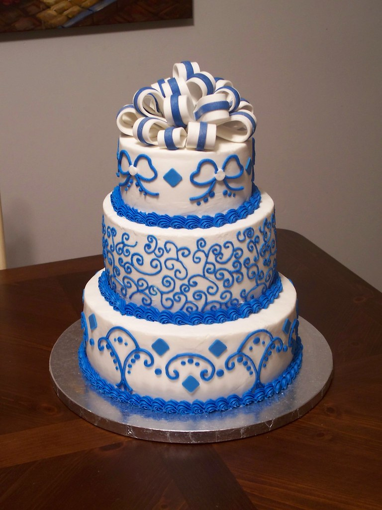 Royal Blue Cake Images : Royal Blue Wedding Cake Jennifer Flickr