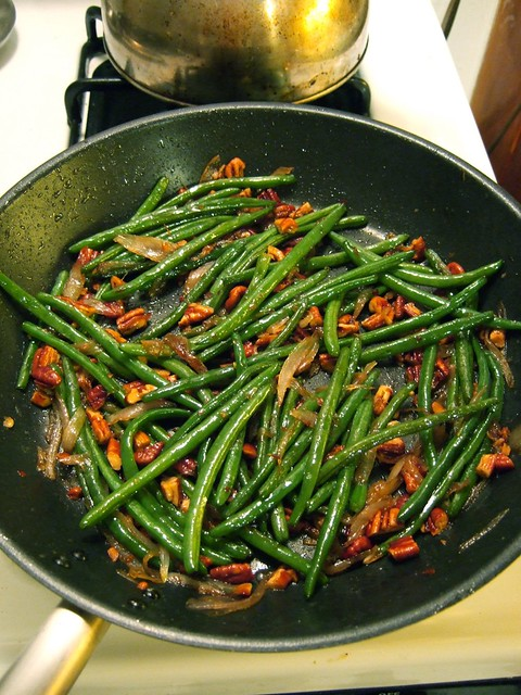 haricots verts with shallots and toasted pecans | Cook the ...