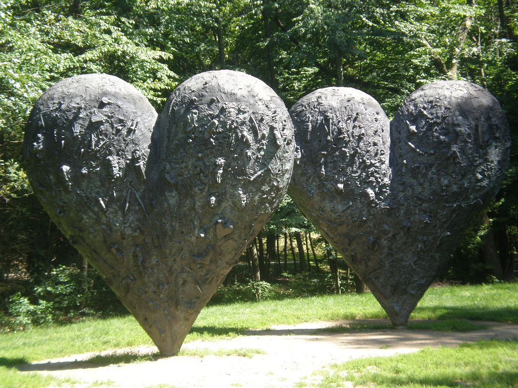 Jim Dine 'Two Big Black Heart' 1985, DeCordova Sculpture P ...