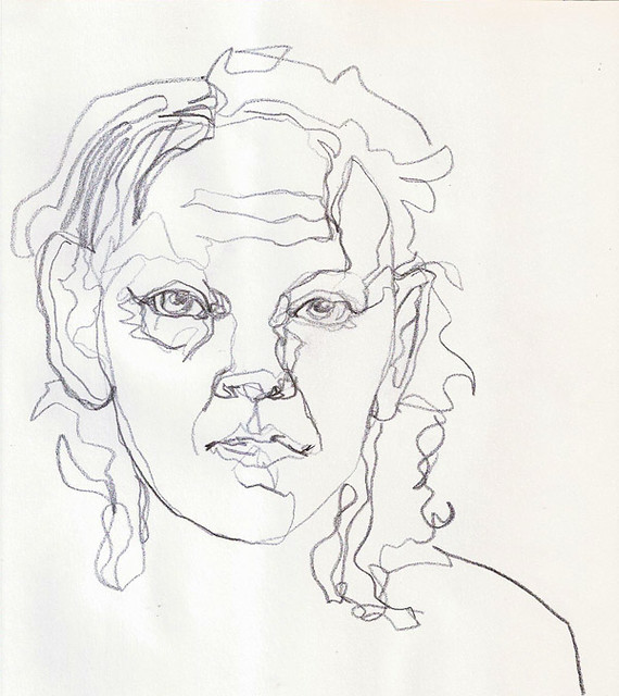 Line Drawing Portrait Tumblr : Continuous line turps flickr