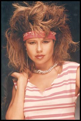 American actress and singer Pia Zadora in the 80s