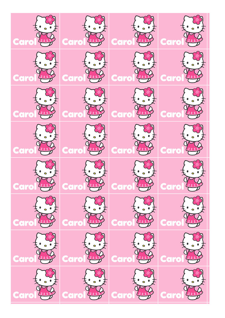 Customized and Printable Hello Kitty Stickers   Full Sheet ...