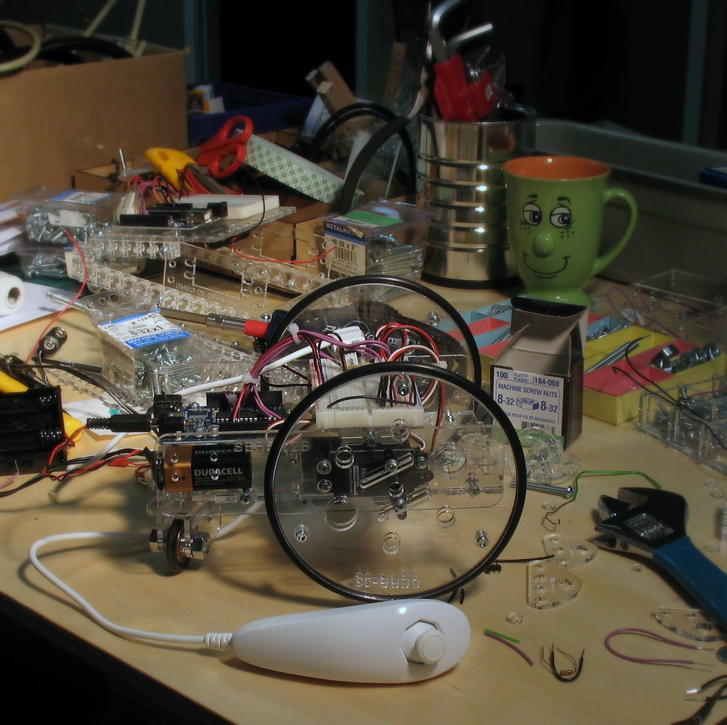 An arduino controlled servo robot and its controller a wi
