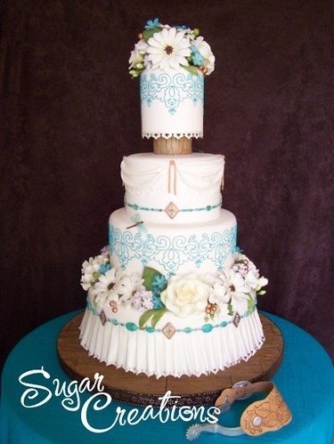 turquoise wedding cake september 2008 this year 39 s entry flickr. Black Bedroom Furniture Sets. Home Design Ideas