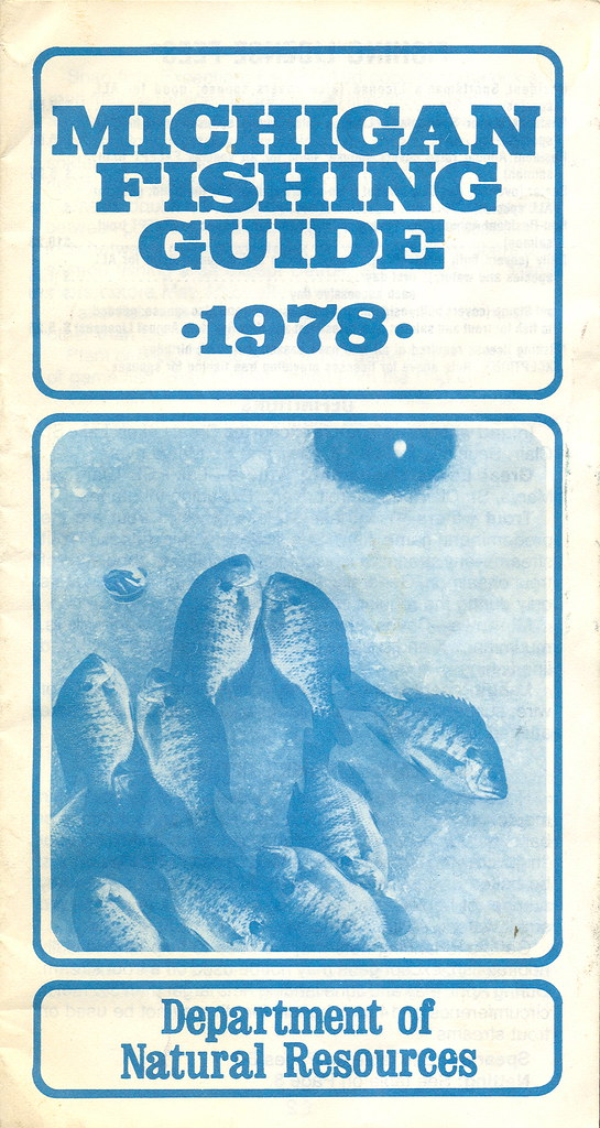 1978 michigan vintage fishing license law digest guide for How much is a fishing license in michigan