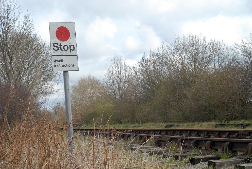 Stop Board Railway Stop Board